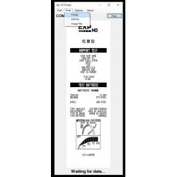 Choix de l'impression : Fichiers PDF ou BMP ou vers votre imprimante de bureau